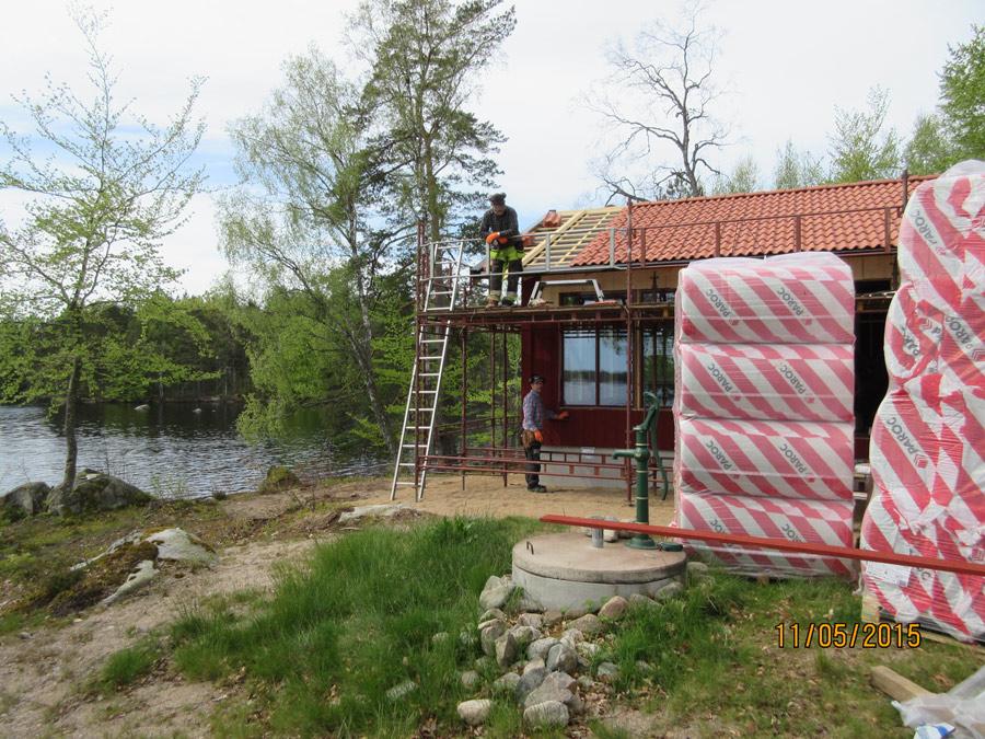 Nybyggnad av sommarstuga i Buemåla.