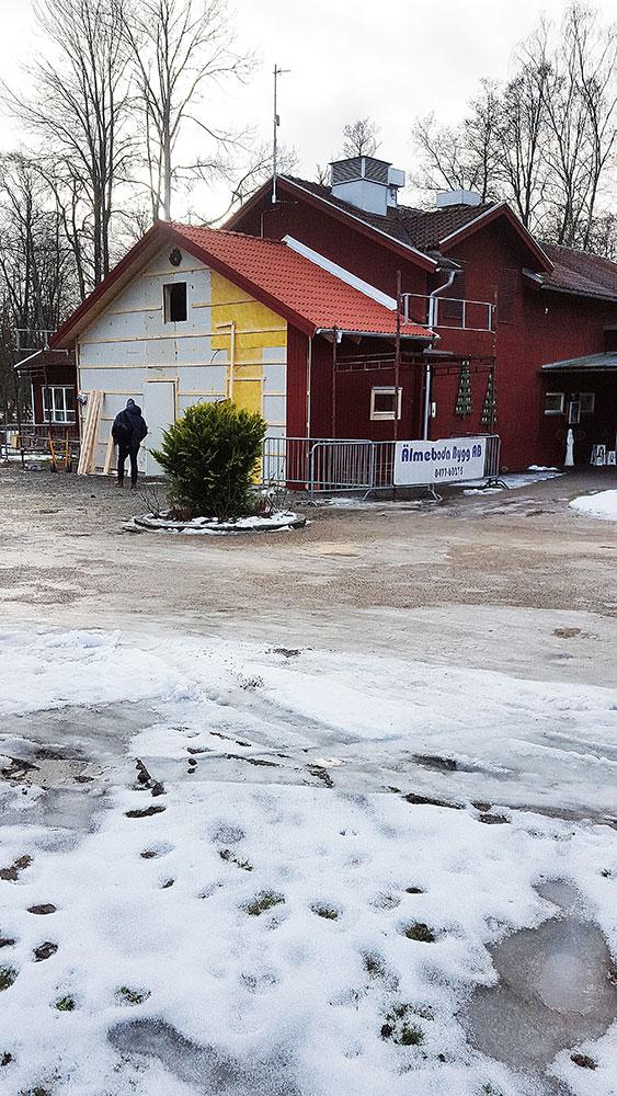 Om- och tillbyggnad av restaurangköksdel i Korrö.